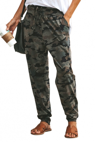 Gray Under The Radar Pocketed Camo Joggers